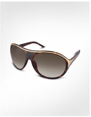 Valentino Swarovski Crystal Pave Frame Signature Sunglasses