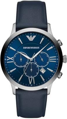 Emporio Armani Giovanni AR11226 Chronograph Blue Leather Watch