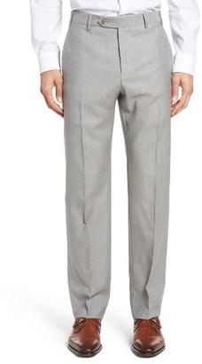 Men's Zanella Devon Flat Front Solid Wool Trousers $325 thestylecure.com