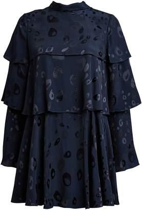 Alexis Latanya Tiered Brocade Dress