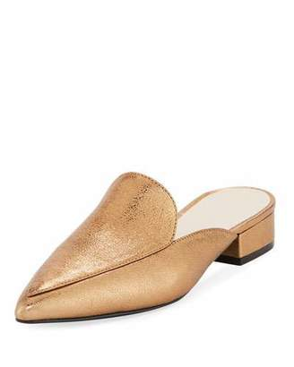 Cole Haan Piper Crackled Metallic Mule, Gold