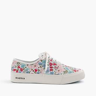 SeaVees for J.Crew Legend sneakers in Liberty poppy & daisy floral