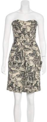 Hoss Intropia Strapless Printed Dress