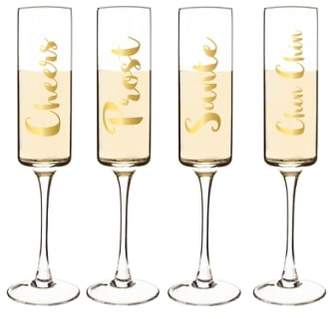 Cathy's Concepts 'Cheers' Champagne Flutes