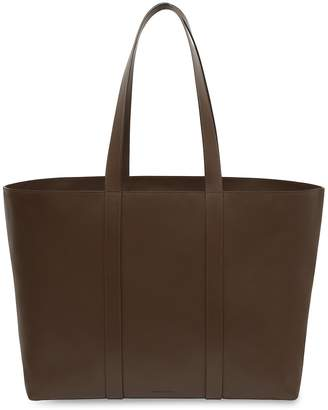 Mansur Gavriel Calf East West Tote - Chocolate
