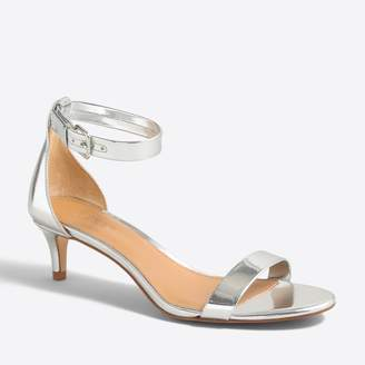 J.Crew Factory Metallic kitten-heel sandals