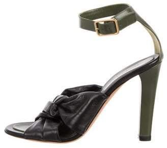 Celine Leather Bicolor Sandals