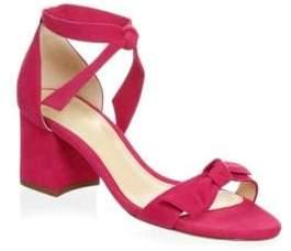 Alexandre Birman Clarita Suede Block Heel Sandals
