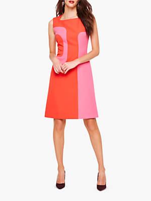 Damsel in a Dress Lucilla Block Colour Dress, Pink/Red