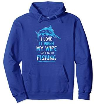 Funny fishing pullover hoodie for men