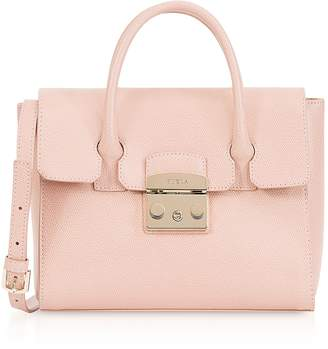 Furla Moonstone Leather Metropolis S Satchel Bag