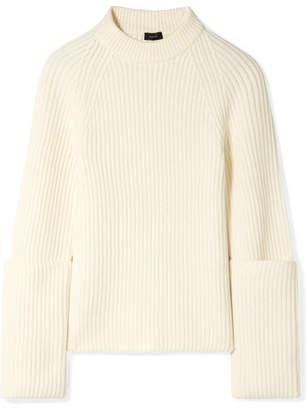 Joseph Ribbed Merino Wool Sweater - Cream