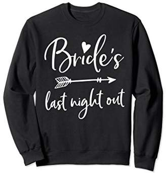 Bride Sweatshirt Last Night Out Arrow Heart Navy Blue