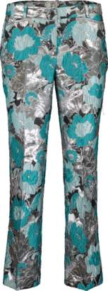 Michael Kors Floral Brocade Cropped Trouser