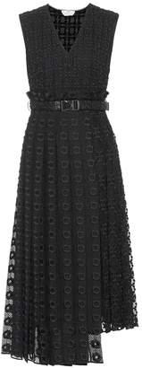 Fendi Broderie anglaise and silk organza midi dress
