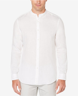 Perry Ellis Men's Band-Collar Linen Shirt $79.50 thestylecure.com
