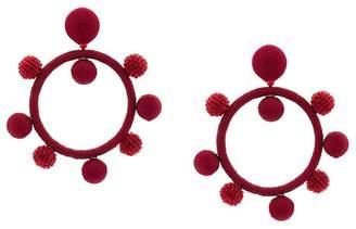 Oscar de la Renta ball hoop earrings