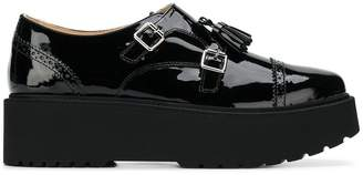 Hogan platform sole monk shoes