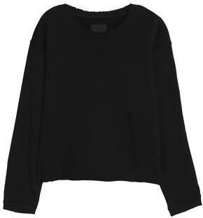 RtA Frayed French Cotton-Terry Sweatshirt