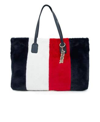 At Psyche Tommy Hilfiger Accessories Cool Faux Fur Tote Bag