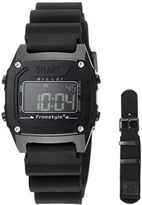 Freestyle (フリースタイル) - [フリースタイル]Freestyle 腕時計 SHARK ビレットリミテッド デジタル 100m防水 ウレタンベルト 替えベルト付き ブラック 81292 【正規輸入品】