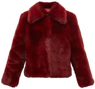 Sies Marjan Felice Faux Fur Jacket - Womens - Burgundy