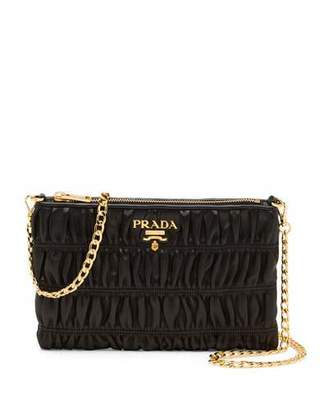 Prada Napa Gaufre Chain Shoulder Bag, Black (Nero) $970 thestylecure.com