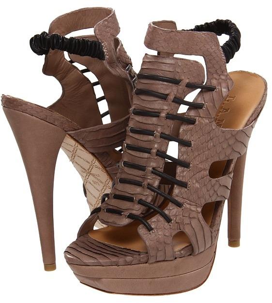 L.A.M.B. Ibbie (Taupe/Black) - Footwear
