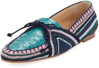 Gabriela Hearst Hays Crochet Flat Loafers