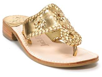 Jack Rogers Hamptons Metallic Thong Sandals