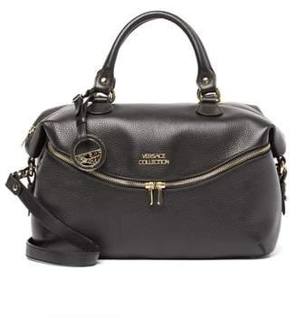 Versace Pebbled Leather Shoulder Bag