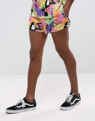Jaded London Shorts In Tropical Print