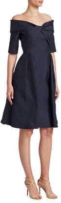 Teri Jon By Rickie Freeman Textured Cocktail Dress