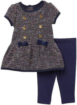 Little Me Boucle Dress & Legging Set (Baby Girls)