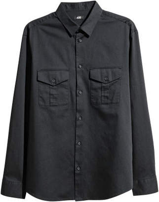 H&M Utility Shirt Regular fit - Black