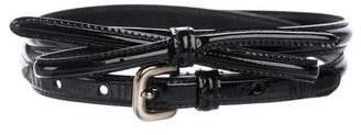 Prada Skinny Leather Belt