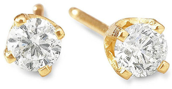 FINE JEWELRY 1/4 CT. T.W. Diamond Stud Earrings 14K Gold