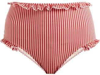 Solid & Striped The Leslie striped high-rise bikini briefs