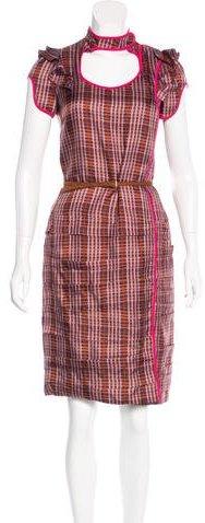 pradaPrada Printed Button-Up Dress