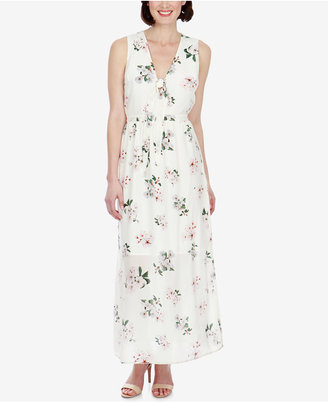 Lucky Brand Silk Floral-Print Maxi Dress $129 thestylecure.com
