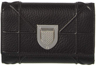 Christian Dior Diorama Leather Tri-Fold Wallet