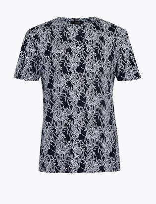 Marks and Spencer Supima Pure Cotton Printed T-Shirt