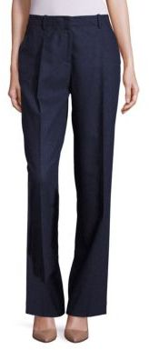 Lafayette 148 New York Rivington Finite Italian Flannel Wide-Leg Pants $448 thestylecure.com