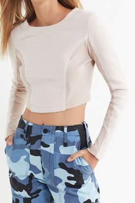 Urban Outfitters Nikita Fleece Cropped Top
