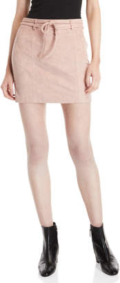 Wild Honey Faux Suede Mini Skirt