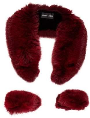 Adrienne Landau Fox Fur Collar and Cuff Set