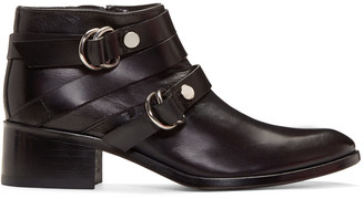 McQ Alexander McQueen Black Ridley Harness Boots $575 thestylecure.com