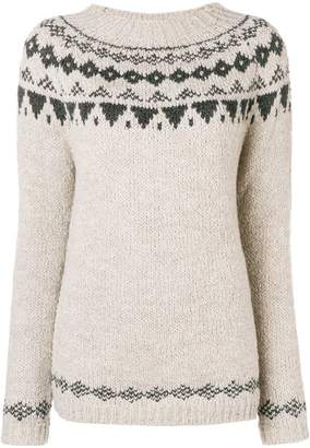 Woolrich geometric knit sweater