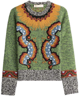 Valentino Embroidered Wool Blend Pullover