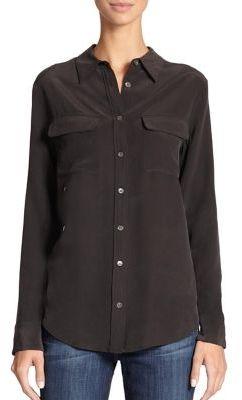 Equipment Slim Signature Silk Shirt $214 thestylecure.com